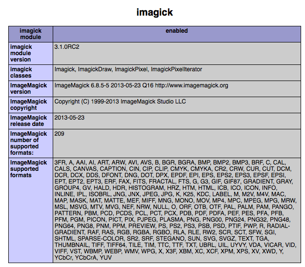 ImageMagick on PHP